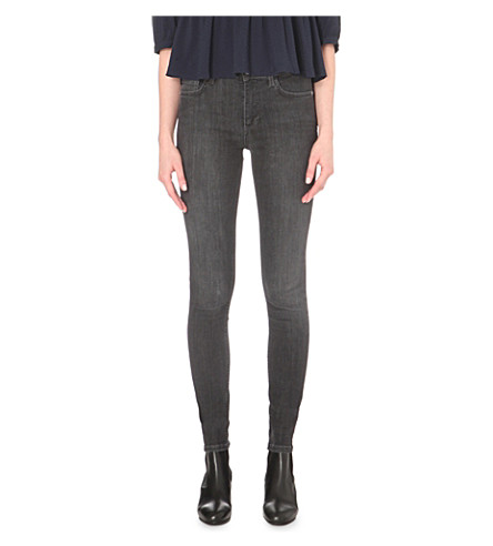 FRENCH CONNECTION Rebound skinny mid-rise jeans (Charcoal