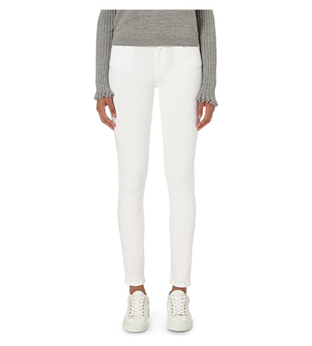 FRENCH CONNECTION Rebound skinny mid-rise jeans (Summer+white
