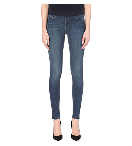 FRENCH CONNECTION Rebound high-waist skinny jeans (Blue