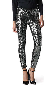 FRENCH CONNECTION Ozlem sequinned leggings