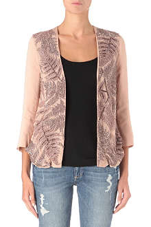 FRENCH CONNECTION Forest Fern embellished jacket