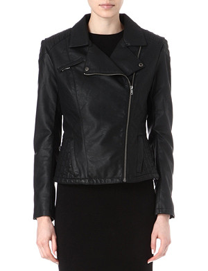 FRENCH CONNECTION Roller girl faux-leather biker jacket