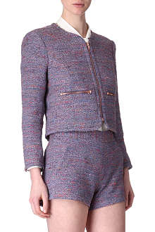 FRENCH CONNECTION Rainbow tweed jacket