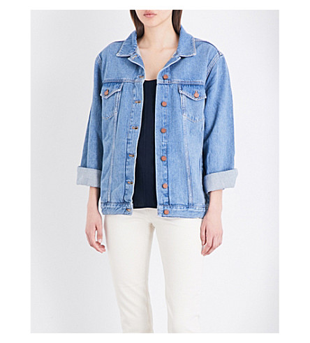 FRENCH CONNECTION Slouchy Western denim jacket (Blue