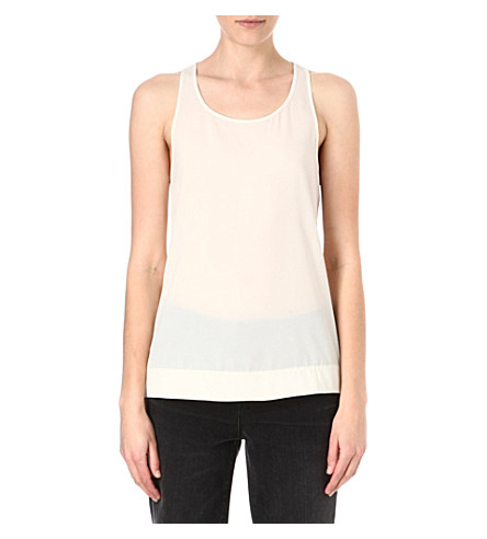 FRENCH CONNECTION Classic Polly Plains vest (Classic+cream