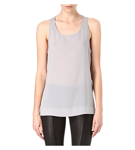 FRENCH CONNECTION Classic Polly Plains vest (Shale