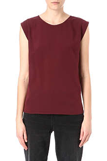 FRENCH CONNECTION Classic Polly Plains cap-sleeved top