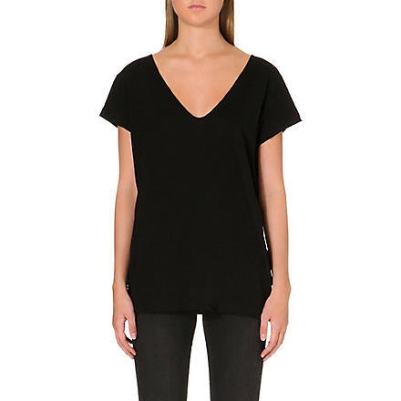 FRENCH CONNECTION V-neck jersey t-shirt (Black