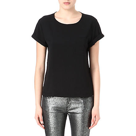 FRENCH CONNECTION Classic Polly Plains t-shirt (Black