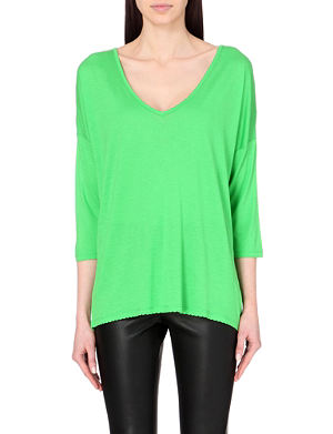 FRENCH CONNECTION Sonny plains slouchy v-neck top