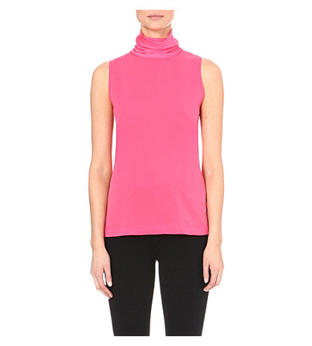 FRENCH CONNECTION Polly plains turtleneck top (Pink