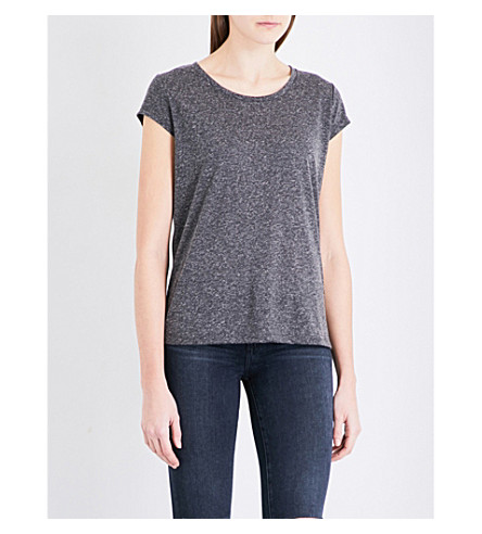 FRENCH CONNECTION Hetty jersey T-shirt (Charcoal+mel