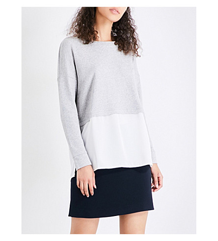 FRENCH CONNECTION Lerato cotton-jersey jumper (Grey