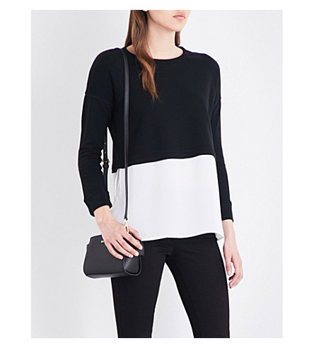 FRENCH CONNECTION Lerato boxy-fit cotton and crepe jumper