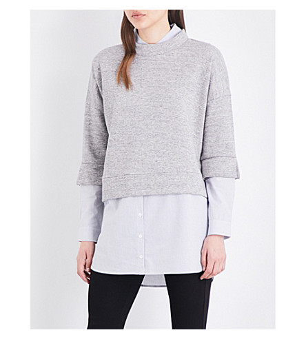 FRENCH CONNECTION Dune Mix cotton-blend sweatshirt (Grey