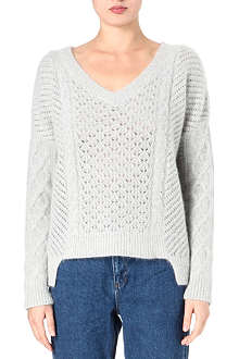 FRENCH CONNECTION Feather fluff knit jumper