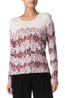 FRENCH CONNECTION Wild flame tulip jumper