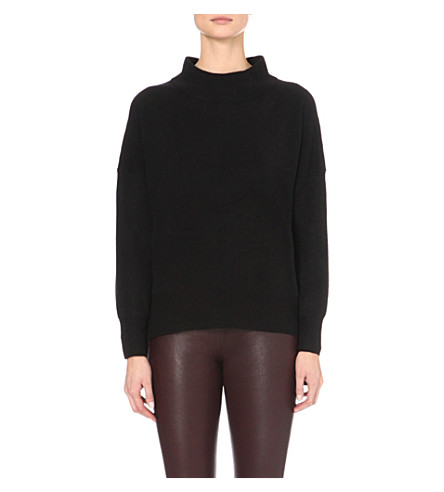 FRENCH CONNECTION Ziggy wool and cotton-blend jumper (Black