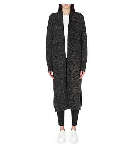 FRENCH CONNECTION Flora longline cardigan (Black+rhino