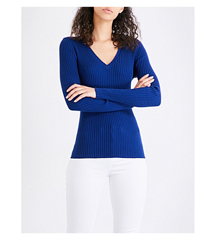 FRENCH CONNECTION Bambino cotton-blend jumper (Blue