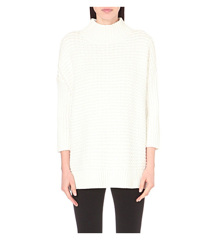 FRENCH CONNECTION Mozart high-neck knitted jumper (Winter+white