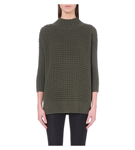 FRENCH CONNECTION Mozart knitted sweater (Khaki