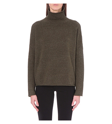 FRENCH CONNECTION Weekend Flossie knitted jumper (Khaki