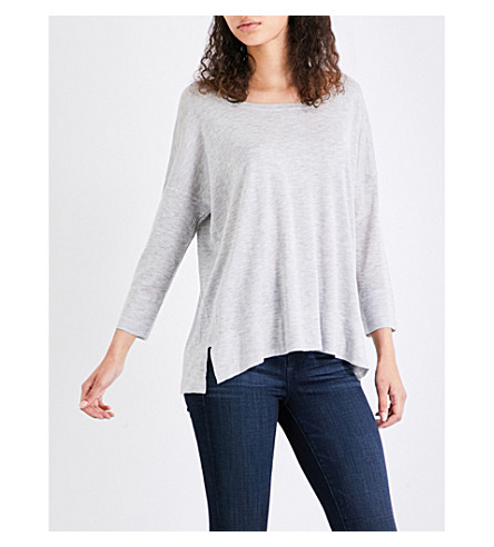 FRENCH CONNECTION Spring cotton-blend jumper (Grey