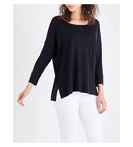 FRENCH CONNECTION Spring cotton-blend jumper (Blue