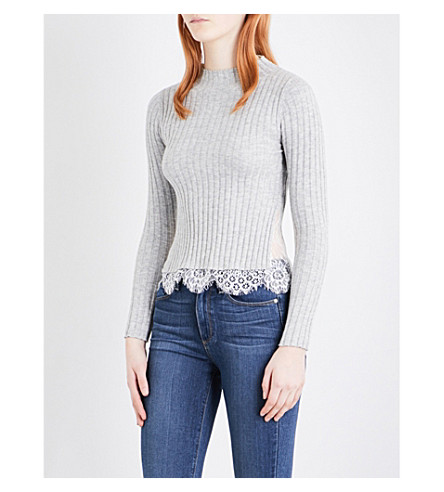 FRENCH CONNECTION Nicola ribbed jumper (Lightgrey/sumwhite