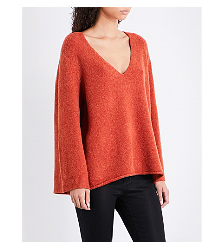 FRENCH CONNECTION Urban Flossy knitted jumper (Copper+coin+melange