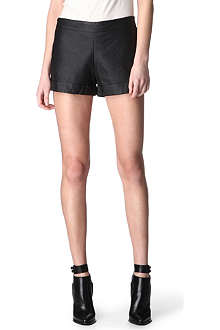 FRENCH CONNECTION Faux-leather shorts