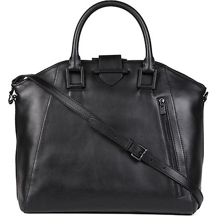 FRENCH CONNECTION Get Your Kicks large leather tote bag (Black