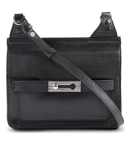 FRENCH CONNECTION Leather shoulder bag (Black