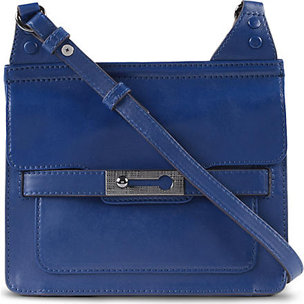 FRENCH CONNECTION Leather shoulder bag (Electric+blue