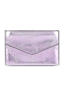 FRENCH CONNECTION Nienke metallic pouch