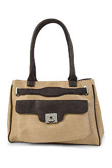 FRENCH CONNECTION Holly Hock raffia tote