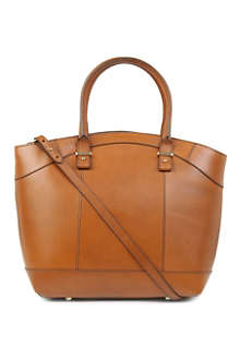 FRENCH CONNECTION Leather bucket tote