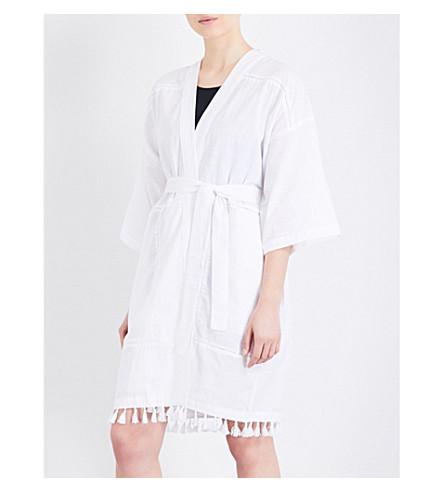 FRENCH CONNECTION Kimono ramie-cotton cover-up (White+cotton/ramie