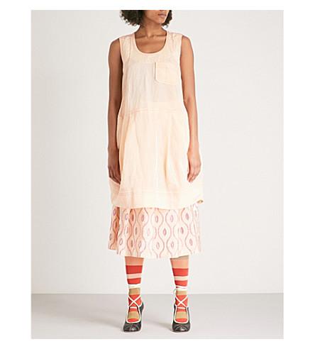 MARNI Textured sleeveless taffeta dress (Rose