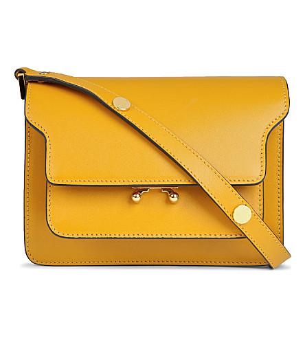 MARNI Mini trunk shoulder bag (Honey