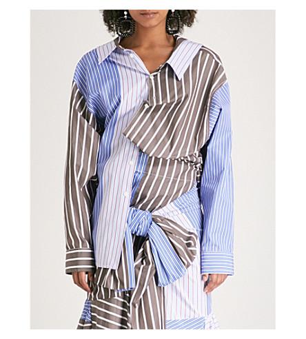MARNI Contrast-striped cotton shirt (Tek