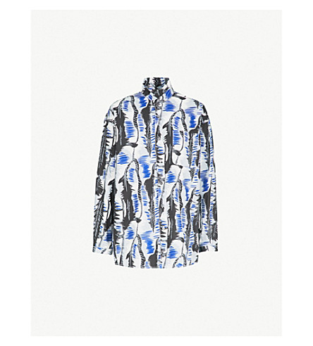 MARNI River-print cotton shirt (Sodium