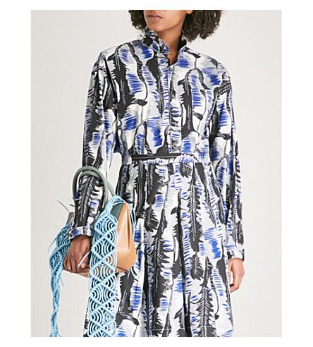 MARNI River-print cotton shirt (Sodium