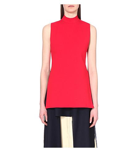 MARNI Open-back sleeveless jumper (Poppy red