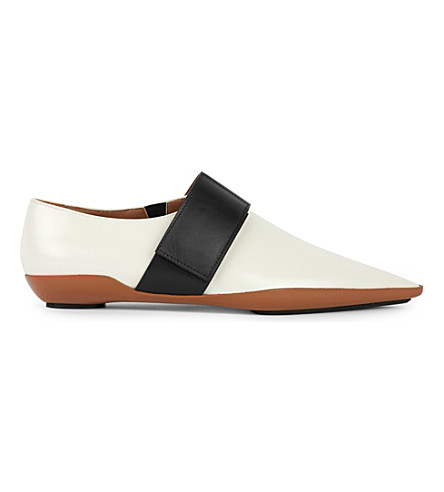 MARNI Runway lace up shoes (Limestone+caramel