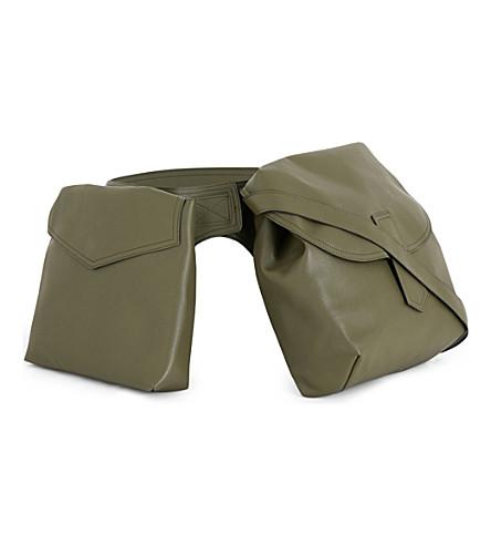 MARNI Kit oversized bumbag belt (Deep+sage