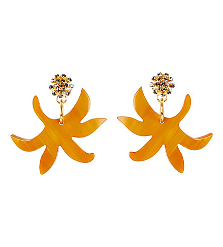 MARNI Horn earrings (Sulphur