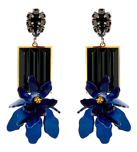 MARNI Horn floral earrings (Ink