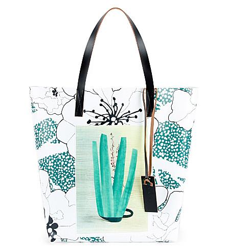 MARNI Ruth Van Beek shopping bag (Sea+green